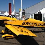 Author with Breitling Stunt Plane