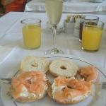 my favourite brekkie! smoked salmon and champagne