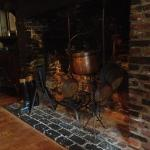 awesome old fireplace is one of the many antique touches