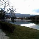 Il laghetto che si vede dalla struttura Montelleri
