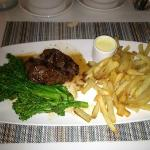 Sirloin Steak (I took the picture after I had cut my steak, perfectly juicy!)