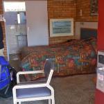 Bedroom, plastic furniture, gaudi decor..nice art