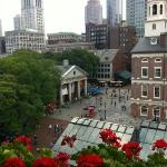 View of Quincy Market from out balcony!