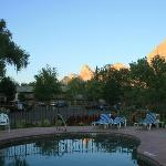 View of mountains from pool area