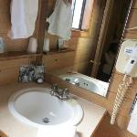 Sink area; roomy and clean