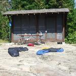 shelter at Moskey Basin