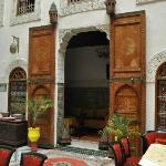Doors were old and and painted. Moroccan!
