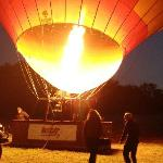 Filling up our Australia balloon - very exciting!