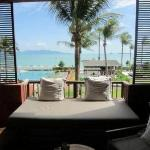 View from room 1208 - standard sea view room. All include these amazing day beds and rocking cha
