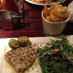 Swordfish steak - nicely done