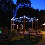beer garden night time