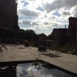 terrace in sun