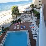 view from 3rd floor balcony queen deluxe suite