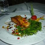 My son's Salmon dish fro Italian a la carte-he loved it!