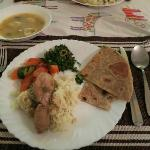 One of our delicious meals made by Peter. Get the chapati!