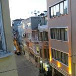 view of street from balcony