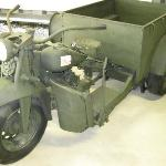 Japanese WWII motorcycle, ammunition carrier