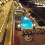 Sun deck and pool at night, very pretty
