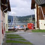 los barcos en la playa