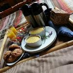 What better way to celebrate your first morning being engaged?? Breakfast in bed!