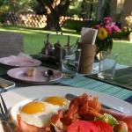 Beautiful and peaceful settings of breakfast venue