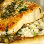 Striped Bass with Risotto