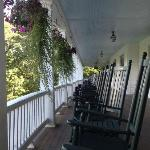 the veranda...