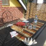 Pranzo servito in terrazza