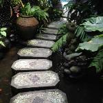 Zen path to dining room