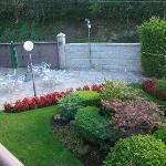 el jardín de entrada