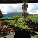 View of Volcano at Lunch