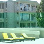 Rooms with a balcony face the pool