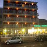Hotel at dusk