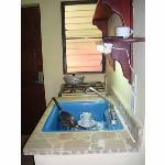 kitchenette inside room