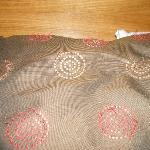tatty 'plucked' bed cushion