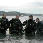 Shore diving at Babbacombe Beach, Torquay
