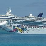 The NCL Jewel offshore from Great Stirrup Cay...