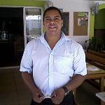 Carlos outside his Restaurante