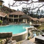 Pool and restaurant