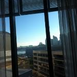 harbour bridge from bed
