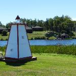 The lighthouse near the pond