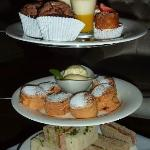 Close-up of the wonderful afternoon tea selection