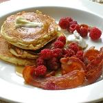 Luscious buttermilk pancakes breakfast