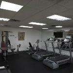 Get fit in our workout room.