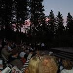 August night, beautiful sky view before the show