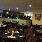 Interior of the restaurant is romantic