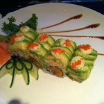 Lobster roll with spicy tuna & avocado