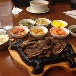 galbi beef short rib dinner
