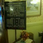 menu on 9/14/2012