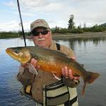 A Dolly Varden in spawining colors.